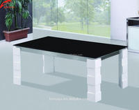 Living room furniture fittings of glass table white gloss coffee table