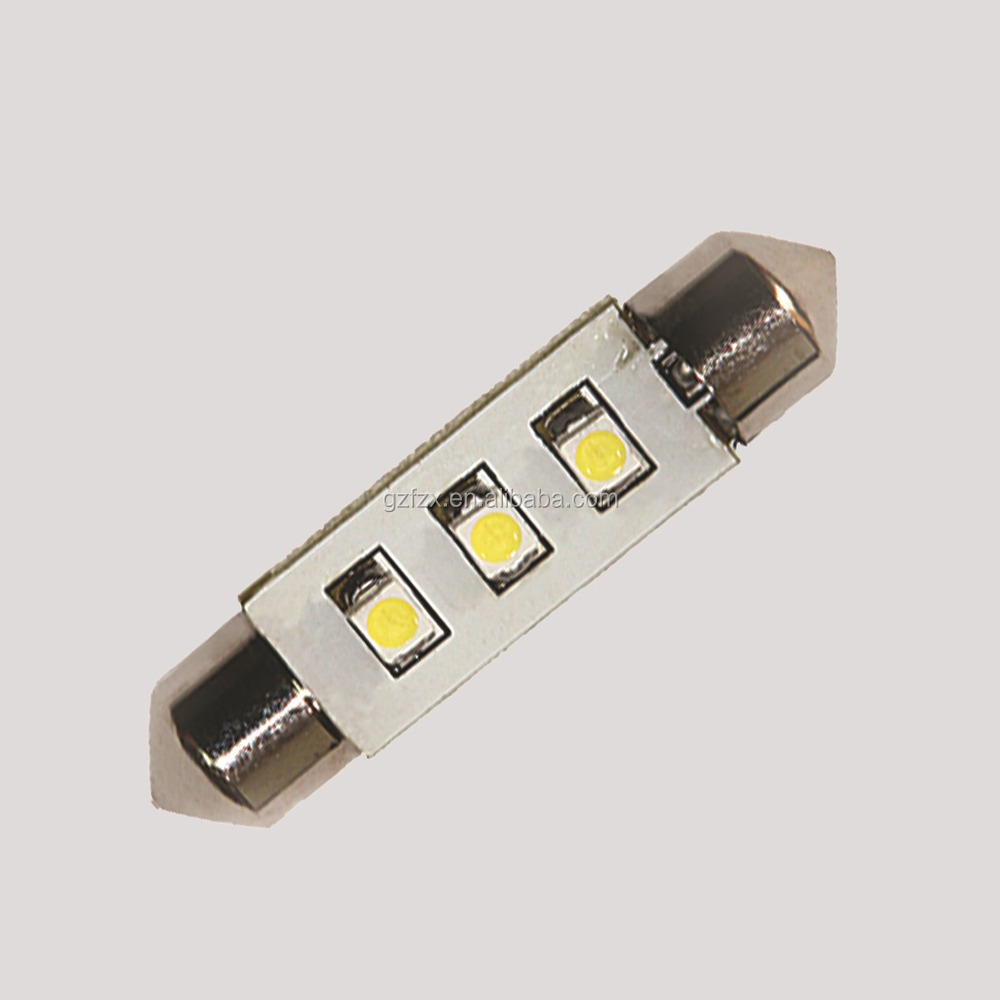 2016 hot sale in dubai market Festoon Socket 3 LED 3528 SMD Car Light Bulbs Multi Usages LED Lamp