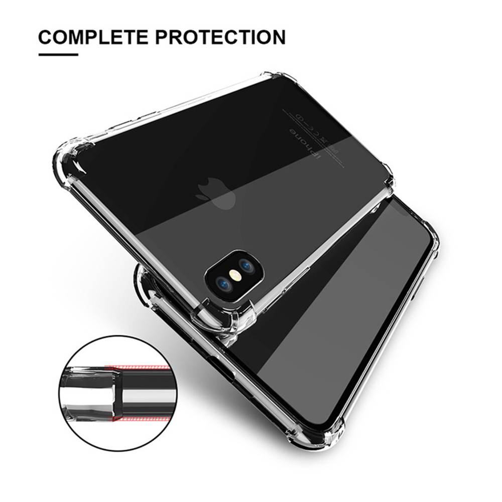 Crystal Clear Silicon Soft TPU Back Case TPU Case For iPhone X,Mobile Phone Shell