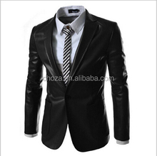 C55152S NEWEST STYLE HIGH QUALITY FASHION MEN LEATHER BLAZER