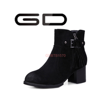 factory beautiful ladies fashion boots big size shoes