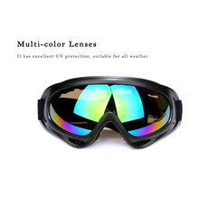 YOUME Black Frame Adult Snowmobile Ski Goggles Protective Glasses Outdoor Motorcycle Cycling Sunglasses Eyewear 5 Color