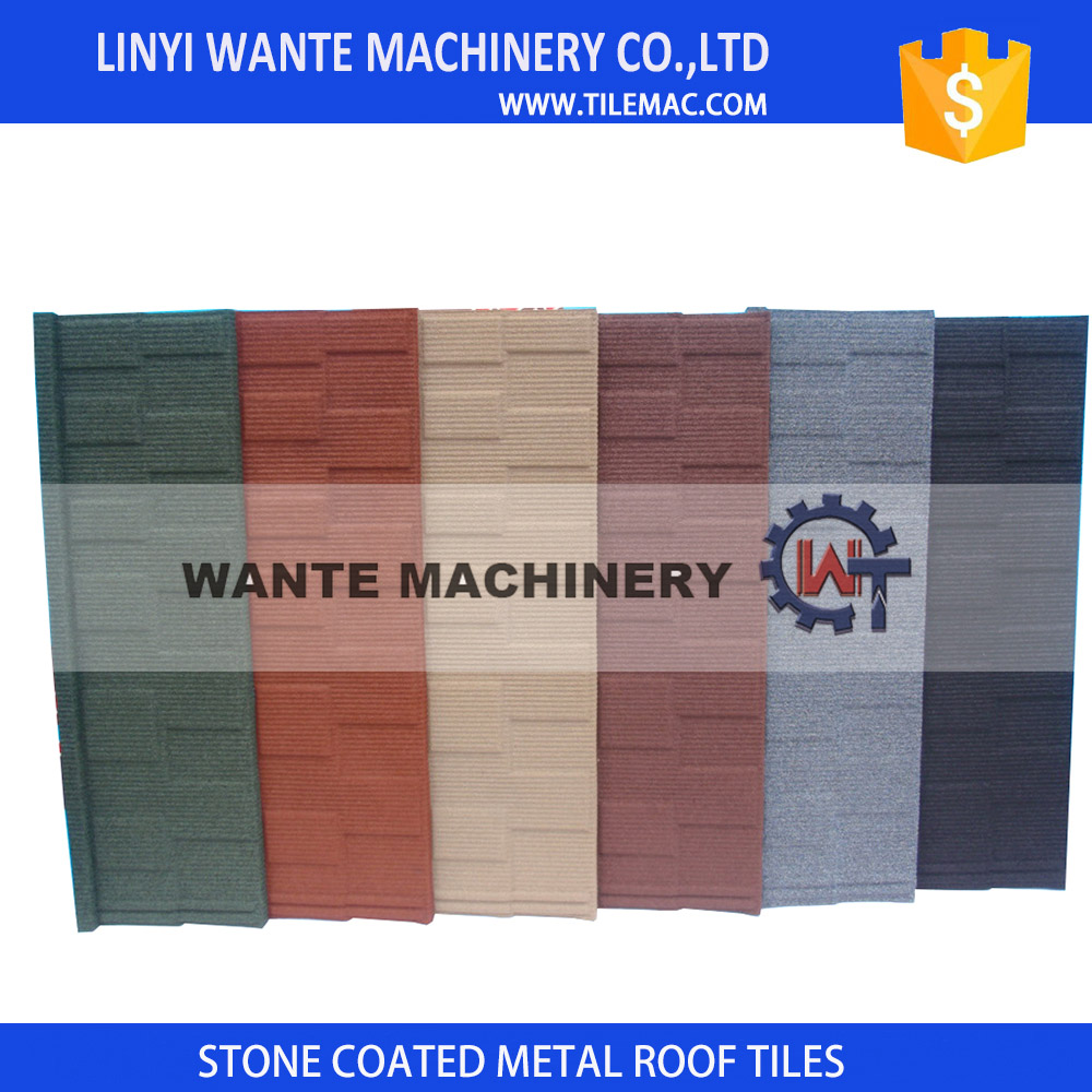 Quality promise stone-coated metal roof tile making machine producing best quality roof tiles