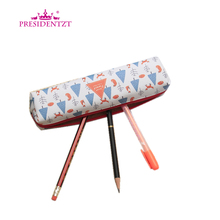 Promotional Strip Shape Pu Leather Pencil Bag With Zipper