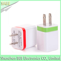 5V 2.1A dual usb wall charger for ipad iphone home charger hot selling in USA