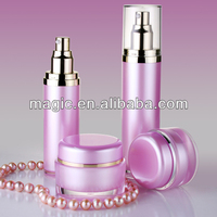 Classic acrylic lotion pump bottles plastic cream container wholesale ice cream containers