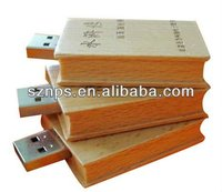 top sale wooden book shape usb flash driver