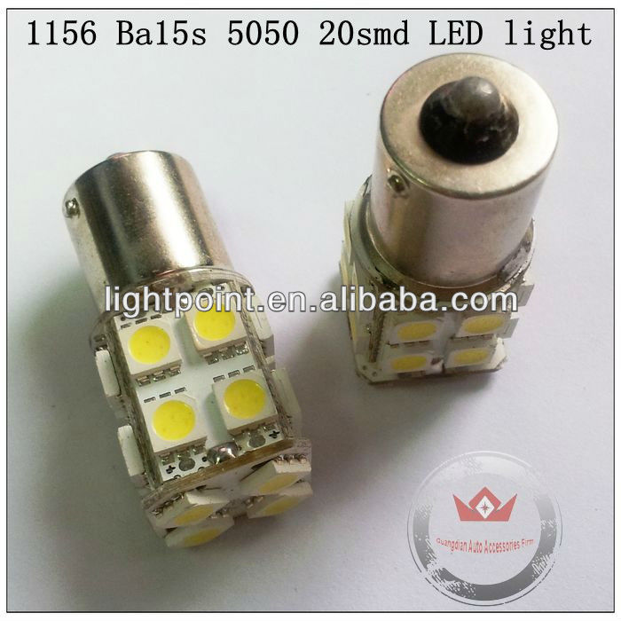 6W High Power LED Ba15s Bulb 20 smd 1156 With 5050 Chip