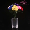 Artificial silk ribbon flower