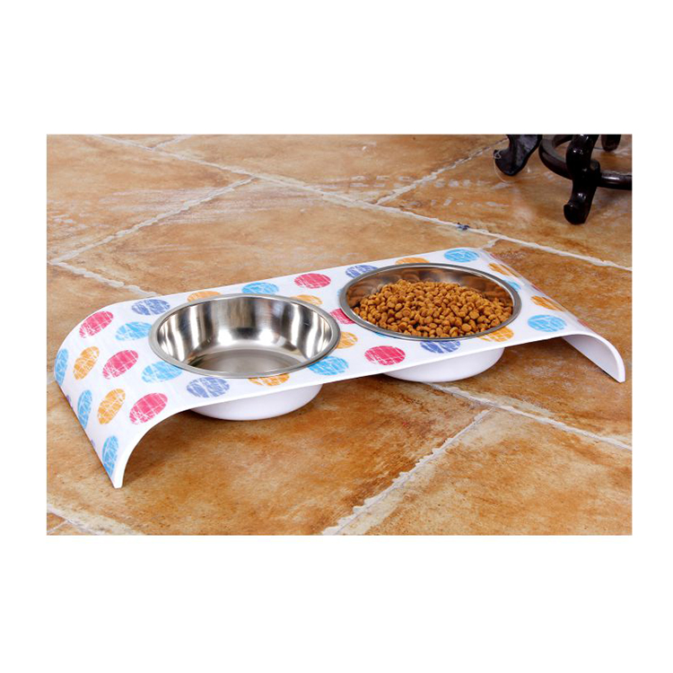 wholesale stainless steel double bowl raised stand,dog bowls with stand