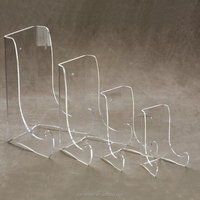 Large Clear Acrylic Bowl Platter Stands Lucite Plate Display Rack Perspex Wholesale Display Stand Plate Holder