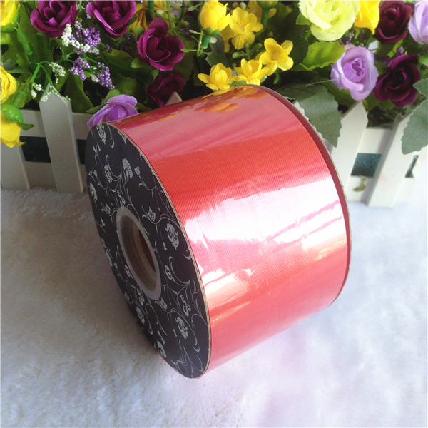 Cheap decoration plastic red ribbon for birthday cakes wrapping