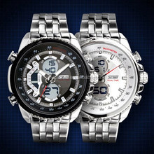 Large Dial Big Wrist 5 Atm Water Resistant Stainless Steel Watch
