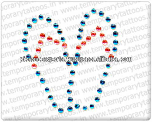 New design top quality safe crystal tattoo stickers