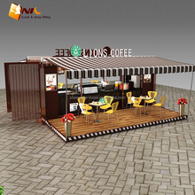 Street shipping container cafe & outdoor fast food restaurant for sale