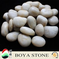 Factory best price landscaping colored polished pebble stone