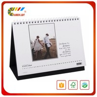 Manufacturer cheap custom photo desk pad calendar insert photo calendar