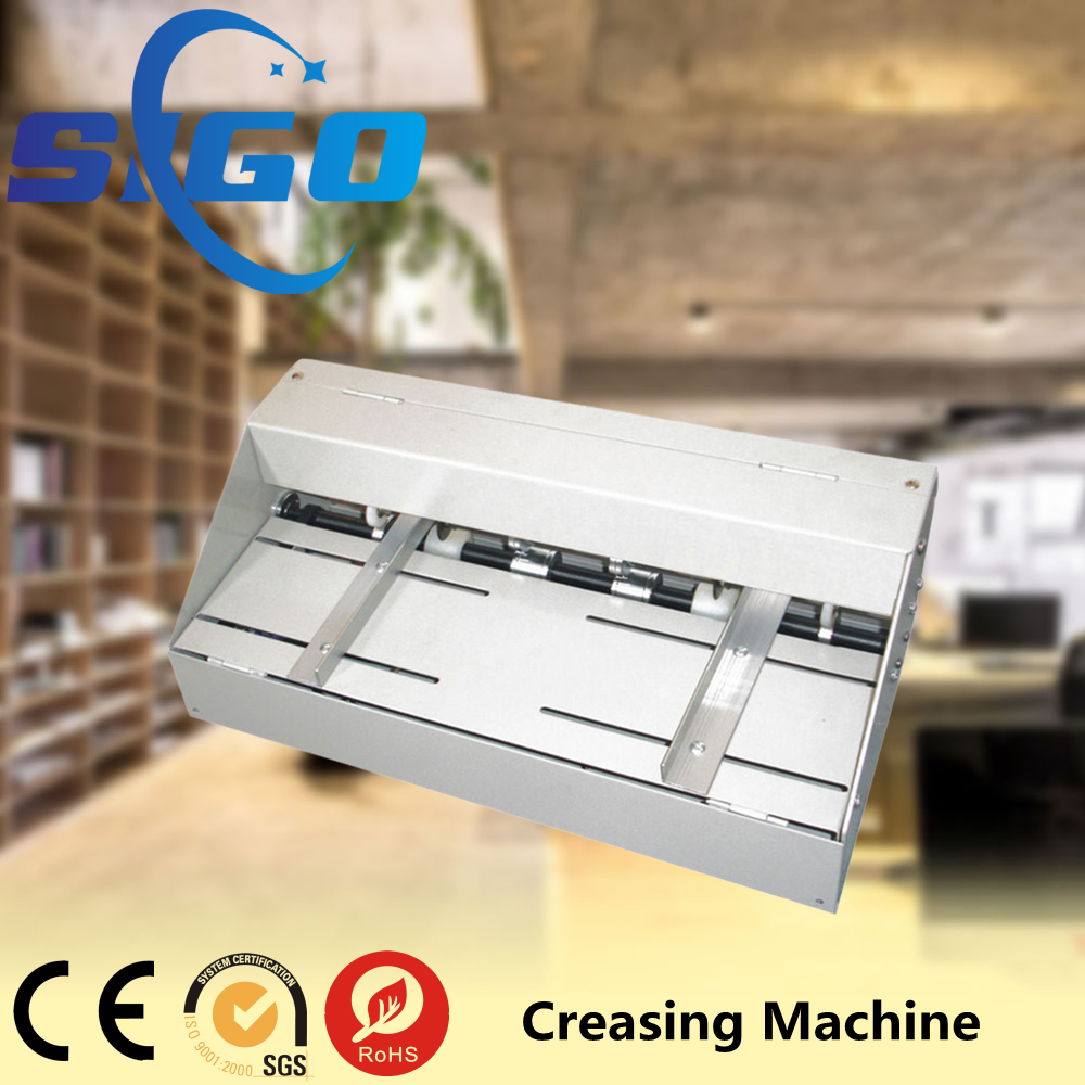 2016 hot sale post-press electric paper creasing machine for a3 a4 size.