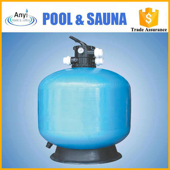 Top-mount quartz fiberglass sand filter for reverse