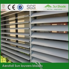 Outdoor adjustable Aluminium Aerofoil sun louver blades