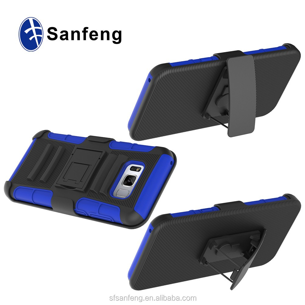 Hot Selling in American Marketing Belt Clip Case For Samsung S8 with Holster, Hard PC Bracket Phone Case For Samsung Galaxy S8