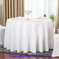 tablecloth round polyester tablecloth white