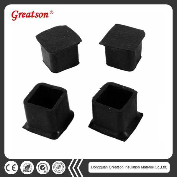 Custom Shape Non Slip Protective Table Rubber Feet Furniture