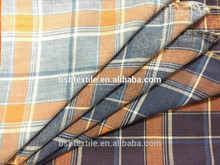 100% Cotton Yarn Dyed Plaid Fabric for garment use