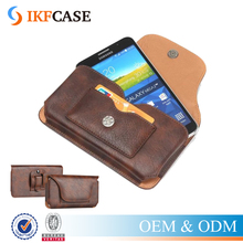 Universal Belt Clip Leather Holster Case Cell Phone Pouch for Samsung Galaxy S7/S6/A9/A8