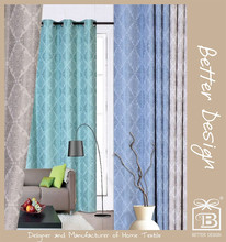 1pc blue/taupe/teal/beige color jacquard fabrics atmosphere fashion beautiful new style curtains designs pictures for 2016