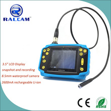 640*480 resolution LCD monitor with 1M flexible snake tube handheld video borescope with crashproof cover