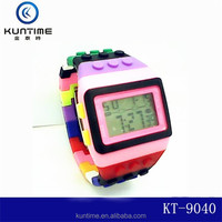 Cheap plastic colorful watches cheap custom made rainbow watch