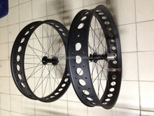 super high end fat wheel 26er both alloy and carbon snow bike wheel bicycle wheelset