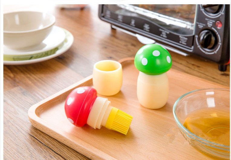 For Amazon ebay hot selling silicone safety mushroom basting oil brush BBq brush