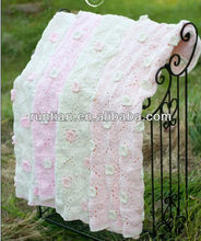 Cuter Acrylic Cotton Crocheted Baby's Throw Blanket