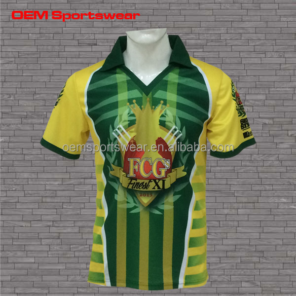 Custom high quality polyester cricket jerseys