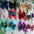 fancy grosgrain ribbons hair bows sequin bows