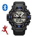 multifunction analog digital watch calorie counter fitness bluetooth wrist watch
