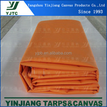 Tear Resistant 18oz 610gsm Orange Laminated PVC tarpaulin