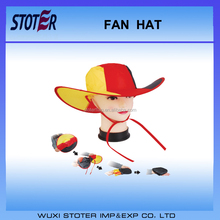 Custom Fashion Football Fans Hat Festival Hat crazy hat for football fans