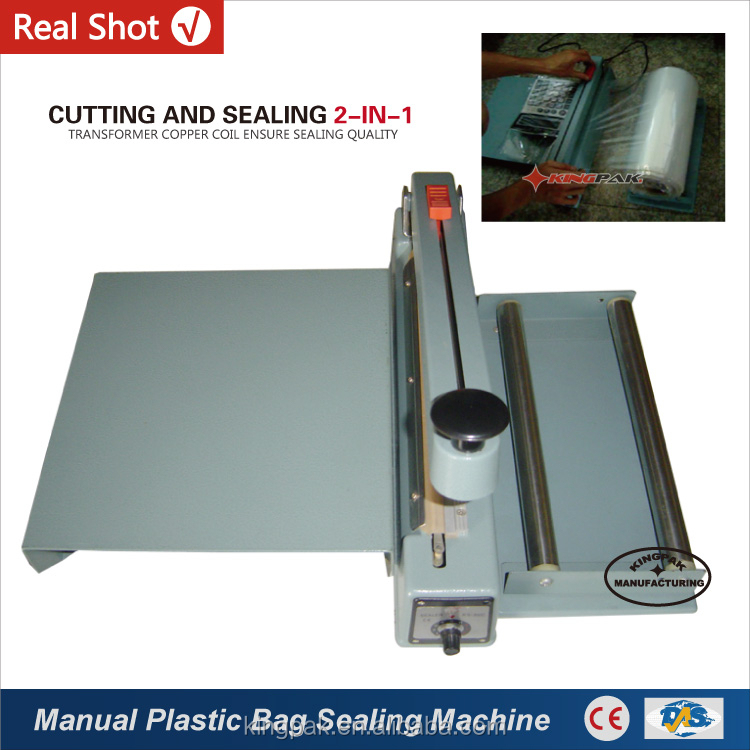 KS-200BC With Middle Cutter Handy Hand Plastic Bag Sealer