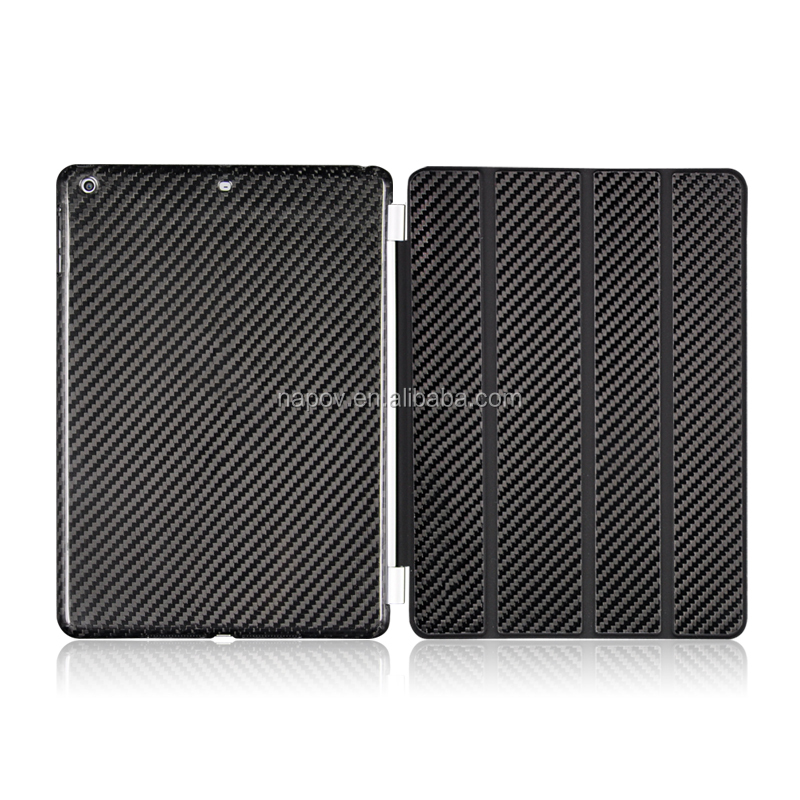For iPad Case Business Style Back Cover Carbon FiberTablet Case for Ipad Air 1