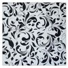 Oil painting Black & White Symphony, handmade abstraction.