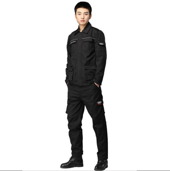 Men's work wear customized Overalls Black work uniforms denim overalls
