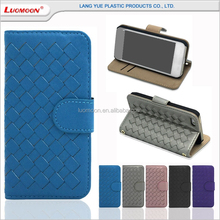 card holder woven patttern leather flip case for huawei ascend g700 g7 G620/C8817L G6/P6 MINI
