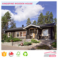 Wooden Log Cabin Prefabricated wood house with terrace low cost made in China for Export KPL-027