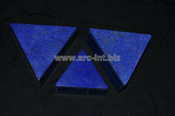 Lapis triangle boxes inlaid with marble