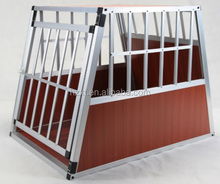 Alu dog cage with Sloped backside