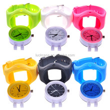 2014 Hot selling popular custom silicone Diamond scale watch with Stainless steel back cover