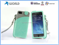Leather Pouch Case for iPhone 5S with Clear Window and Card Slots